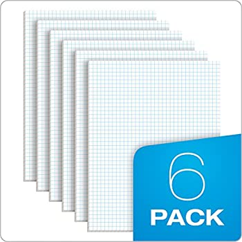Tops Quadrille Pad, 8.5 X 11 Inches, 15 Pound Stock, 50 Sheets Per Pad, 6 Pads Per Pack, White (99522) 7