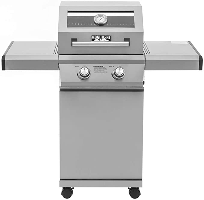 Monument Grills 14633 2-Burner Stainless Steel Liquid Propane Gas Grill - Best Performance