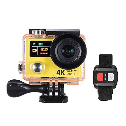 Andoer H3R アクションカメラ 4K 25fps 1080P 60fps フルHD 170°広角レンズ デュアルLCDスクリーン 12MP 支持WiFi 防水 水中ダイビング30m スポーツカメラ リモコン+ 複数 マウントベース + キャリングバッグ付き 車DVRの商品画像