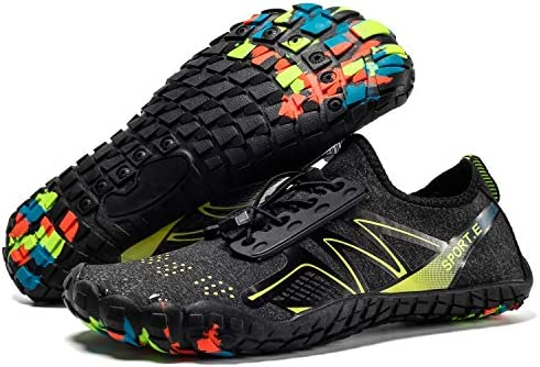 YiaiY Zapatillas de Senderismo Natación, Senderismo Zapatos de Natación, Cinco Dedos, Zapatos de Vadeo, Secado Rápido Zapatos de Buceo, Escalada Playa, Upstream Zapatos, 7MWomen/6MMen: Amazon.es: Deportes y aire libre