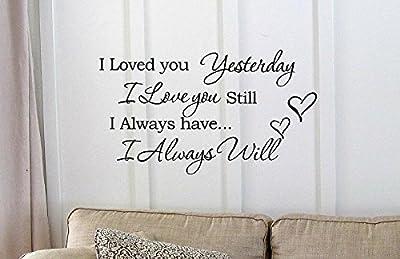 I Loved you Yesterday I love you still
