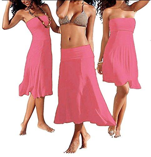 Sans Un Bretelles 4 Sexy Maillots Des Bain En Adaptées Ou Femmes Robe L'été De Sodacoda Rose Encore Plage Jupe Modèles BqtXnww4Y
