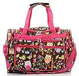Snowflake Designs Pink Owl Duffel Bag
