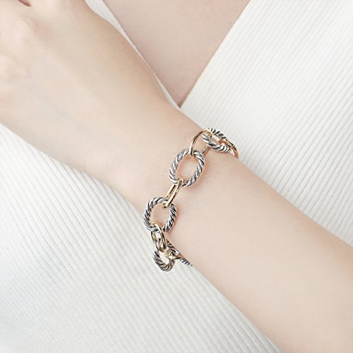 UNY Bracelet Designer Brand Inspired Antique Women Jewelry Cable Wire Vintage Valentine Christmas Gift by UNY (Image #1)