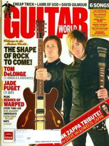 Guitar World Magazine - Tom DeLonge and Jade Puget Cover - August 2006 - Volume 27 No. 8
