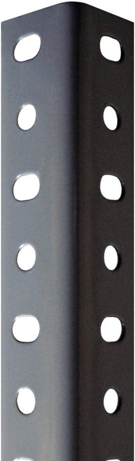 Perfil Gris Estantería Para montaje con Tornillos (Tornillos no incluidos De Venta en nuestra tienda). 35 mm x 3000 mm. 8 unidades.