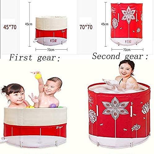 折りたたみ式バスタブ風呂バレル大人無料インフレータブル浴槽浴槽肥厚バレル70 * 70 CM