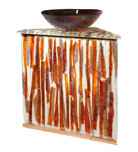 Meyda Lighting 115433 35''H Marina Fused Glass Sink/Vanity Combo by Meyda