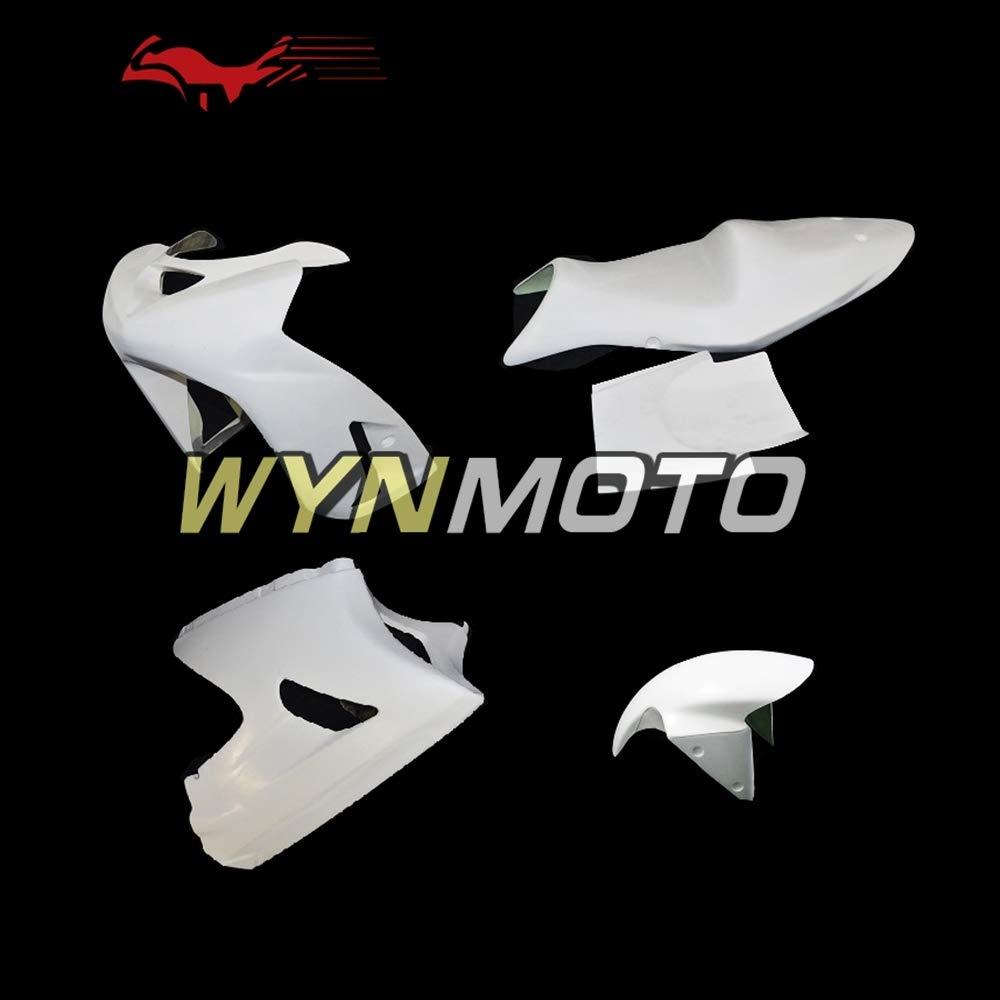 WYNMOTO 新しいオートバイ川崎 ZX6R 636 2003 2004 ZX 6R 03 の完全なフェアリングをレース グラスファイバーを未塗装 04 裸グラスファイバー フェアリング キット本体キット   B07MK6G2SZ