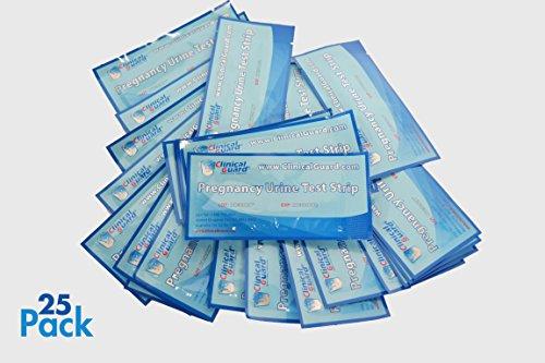 ClinicalGuard® HCG Pregnancy Test Strips (Individually-Sealed, Pack of 25) (Best Hpt For Early Detection)