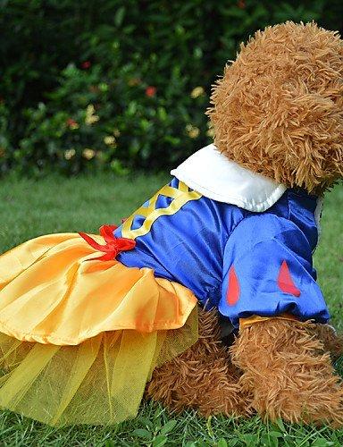 USXY Blue Wedding Snow White Princess Skirt Cotton Silk Dresses For Dogs , xl (Snow White Dog Costume)