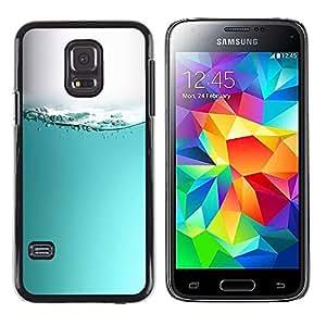 ROKK CASES / Samsung Galaxy S5 Mini, SM-G800, NOT S5 REGULAR! / WATER SURFACE WAVES / Delgado Negro Plástico caso cubierta Shell Armor Funda Case Cover