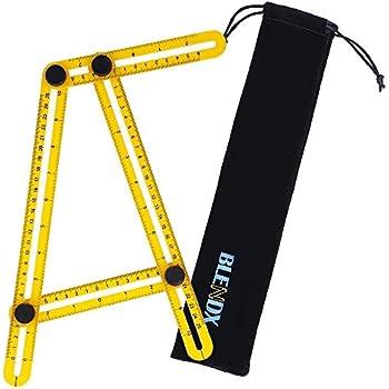 angleizer template tool ruler premium blendx aluminum ss material angle measurement tool heavy duty