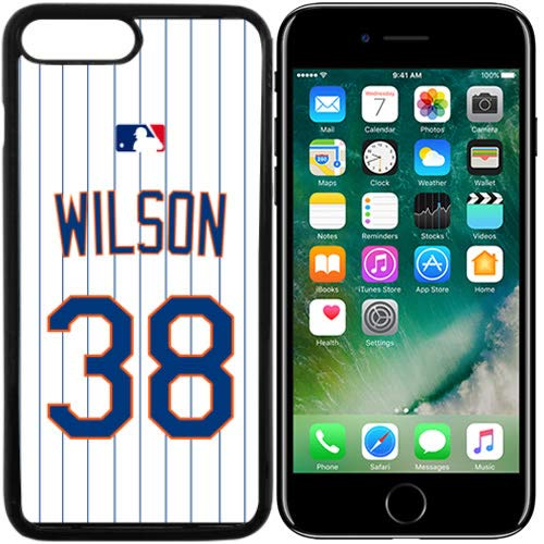 iPhone 7, 7 Plus New Case Mets NY Home Jersey Baseball Fashion Grip Anti-Slip Protective Shock Resistant Durable PC TPU by Mr Case (Wilson, iPhone 7)