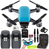 DJI Spark Portable Mini Drone Quadcopter Essential Palm Landing Pad Bundle (Sky Blue)
