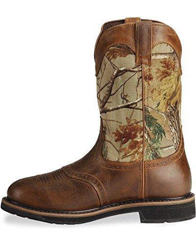 88a45908be9 Justin Original Work Boots Men's Stampede Camo WaterProof Wk Work ...