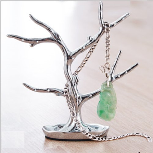 (AUCH Small Jewelry/Rings/Bracelet/Necklace/Keys Rack/Holder/Stand/Displays/Tree/Branch,Silver)
