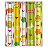 expresso bathroom shelves - Eyeselect Easter Bath Curtains Polyester Best For Artwork Relatives Family Kids Boys. Machine Washable Width X Height / 72 X 72 Inches / W H 180 By 180 Cm(fabric)