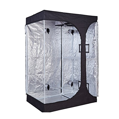 """TopoGrow 2-in-1 Indoor Grow Tent 48""""x36""""x72"""" 600D High-Reflective W/2-Tiered for Lodge Propagation and Flower (48""""X36""""X72"""")"""