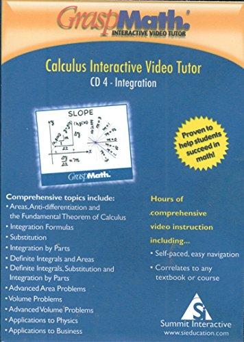 - GraspMath Calculus Interactive Video Tutor CD/ROM #4: Integration