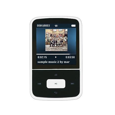 AGPTEK G05W- Mini Clip Bluetooth Reproductor de MP3 8 GB TFT Pantalla 1.5 Pulgadas con