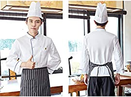 KESOTO Chaqueta De Chef Servicio De Comida Manga Larga Cocina De ...