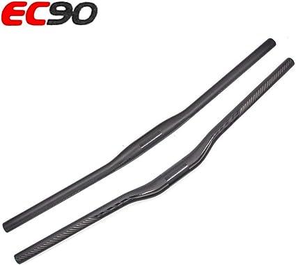 Carbon 3K MTB Road Bicycle Flat Handlebar Integrated Bar Stem 100*660mm