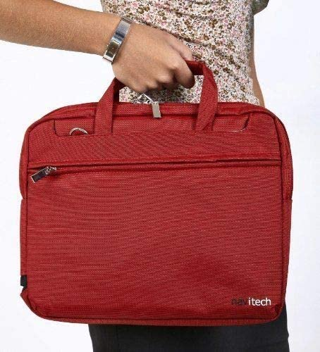 Navitech Red Graphics Tablet Case//Bag Compatible with The Kimiandy LCD Writing Tablet 8.5-Inch