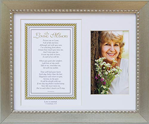 In Loving Memory Christian Memorial Picture Frame (Silver) With Scripture