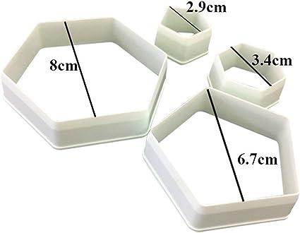 BESTONZON 4 pezzi di formine per biscotti calcio fondente torta stampo embosser stampo Sugarcraft decor pasta strumenti di modellazione