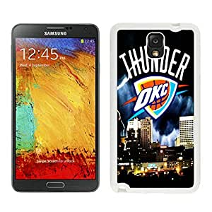 New Custom Design Cover Case For Samsung Galaxy Note 3 N900A N900V N900P N900T Oklahoma City Thunder 4 White Phone Case
