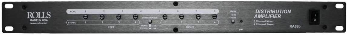 ROLLS RA63b Eight Channel Audio Distribution Amplifier, Rack Mountable