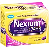 Nexium 24-Hour Delayed Release Heartburn Relief (42-Count Tablets) - Buy Packs and Save (Pack of 2)