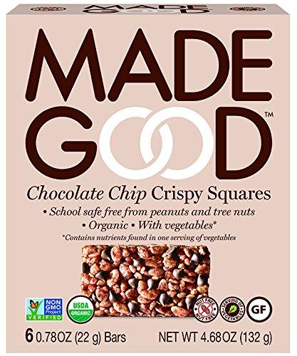 Made Good Chocolate Chip Crispy Squares, 22 gram, (Pack of 6)