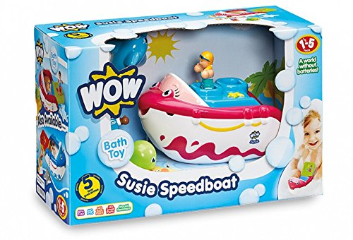 WOW Toys Susie Speedboat Action Pacted Boat - Dolphin Speed Boat