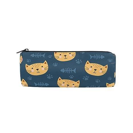 Bonipe - Estuche para lápices con diseño de gatos, para escuela, papelería, bolígrafo