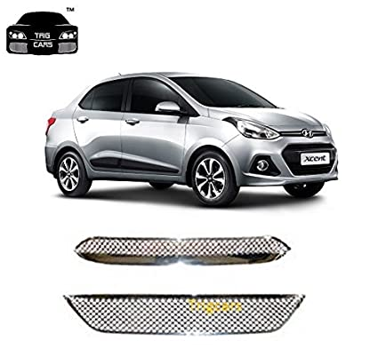 Trigcars Hyundai Xcent Car Front Grill Chrome Plated Car Bluetooth