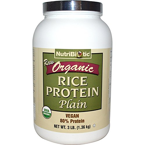 NutriBiotic, Raw Organic Rice Protein, Plain, 3 lbs (1.36 kg) - 2pc by Nutribiotic