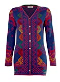 IVKO Long Sweater Jacket, Morocco Pattern, China Blue, EUR 42 - US 12