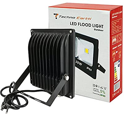 Techno Earth® LED Spotlight Flood Light High Power Outdoor Wall Cool White