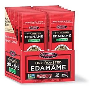 Seapoint Farms Sea Salt Dry Roasted Edamame, Healthy Snacks, 1.58 oz, 12-Pack