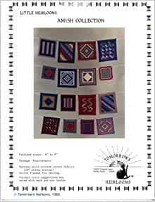 little heirlooms amish collection miniature quilt patterns