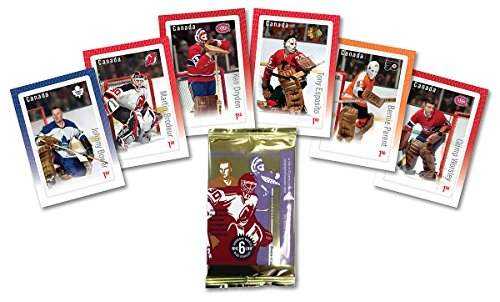 Canada Post - NHL Goalies: Hockey Card Canadian Stamp Pack Souvenir Sheets - Set of 6