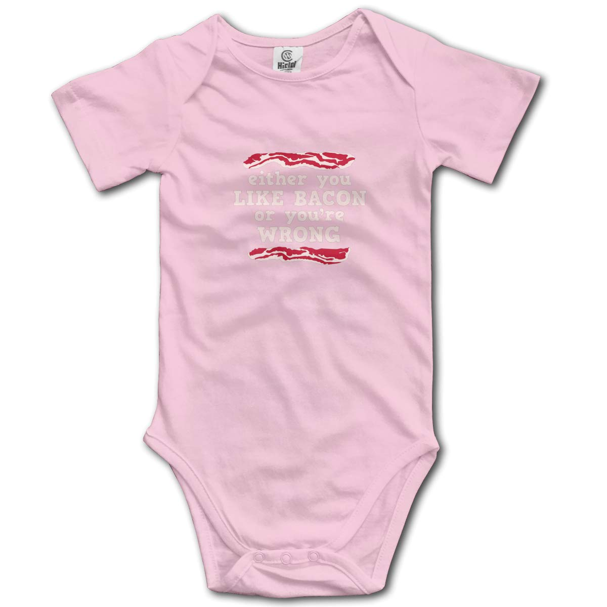 Coollifea Like Bacon Or Youre Wrong Baby Romper 0-18 Months Newborn Baby Girls Boys Layette Rompers Black