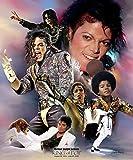 Wishum Gregory, Michael Jackson - Art Print Poster, Paper Size 20' x 16' Image Size 20' x 16'(4143)