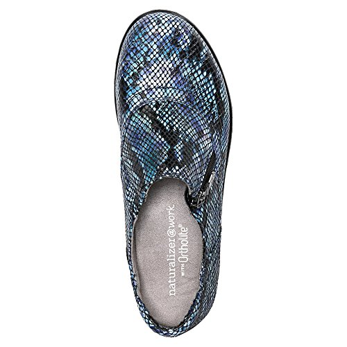 Naturalizer Damen 'Florence' Clog Wasserfarbe Schlange / Blau Multi