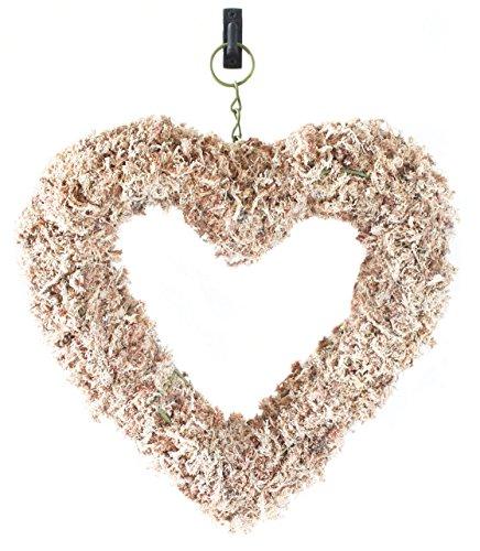 """Supermoss 22362) Sphagnum Moss Living Wreath 13"""" - Heart,..."""
