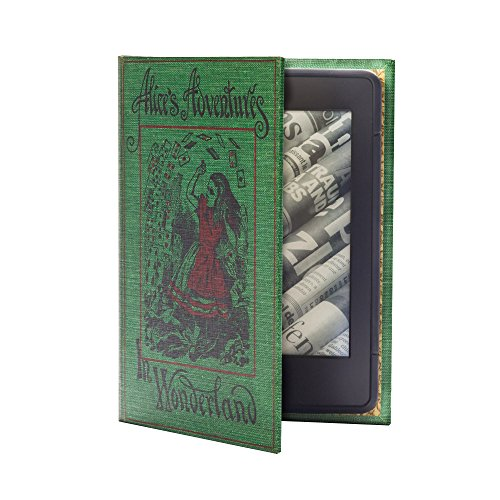 KleverCase Book Cover Case for Amazon Kindle 4th or 5th Gen Only - Alice in Wonderland