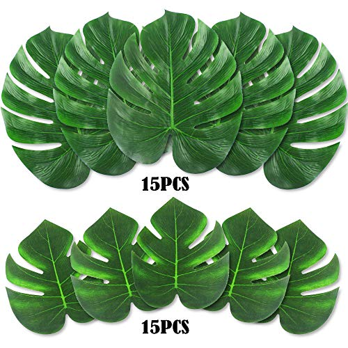OUTUXED 30PCS Tropical Leaves (14