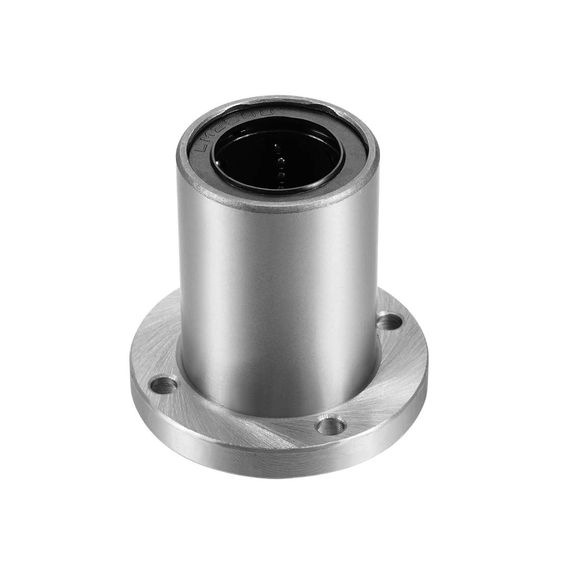 uxcell LM25UU Round Flange Linear Ball Bearings 59mm Length 1Pcs 25mm Bore Dia 40mm OD